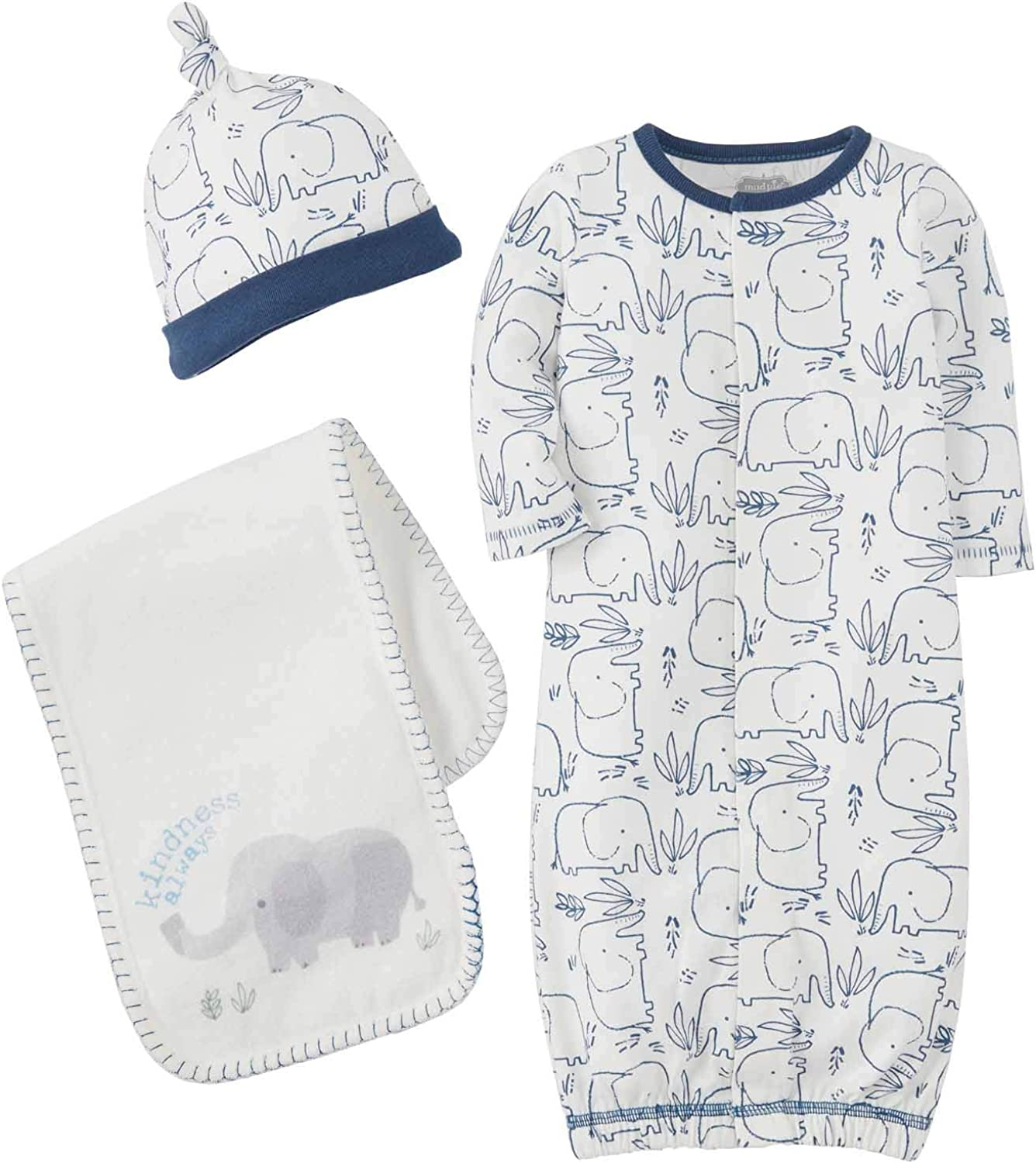Mud Pie Baby Boys' Blue TAKE ME Home Set, Newborn