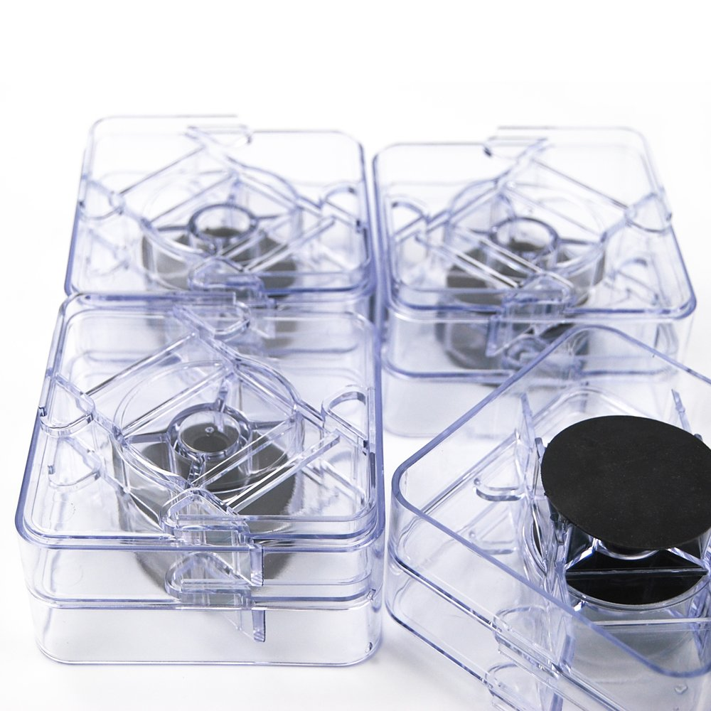 Aspeike 8 pack Clear Square Adjustable Bed Risers Non-Slip Table Risers or Furniture Risers/1 or 2 inch height improvement/1500 pounds