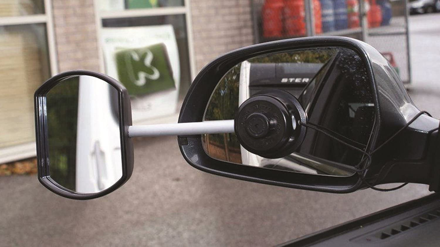 Streetwize TWIN PACK Stick-On Towing Mirror Caravan Mirrors Convex /& Flat Glass Suck it and See