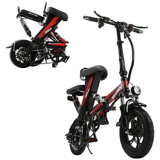 Bicicleta eléctrica, Scooter para Adultos Plegable, Doble ...
