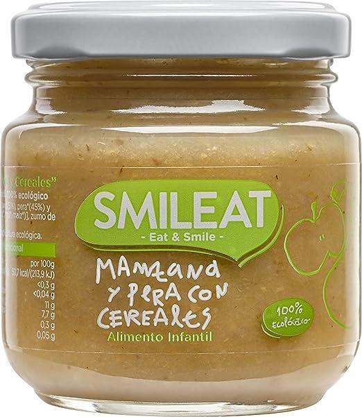 Smileat Tarrito de Manzana y Pera con Cereales - Paquete de 12 x 130 gr - Total: 1560 gr: Amazon.es: Alimentación y bebidas
