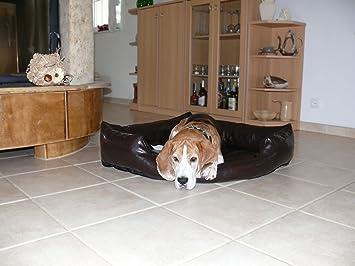Gabi Perros cama piel sintética esquina cama sofá de esquina cama para perros Perros Talla XL 120 x 120 cm, color marrón oscuro: Amazon.es: Productos para ...