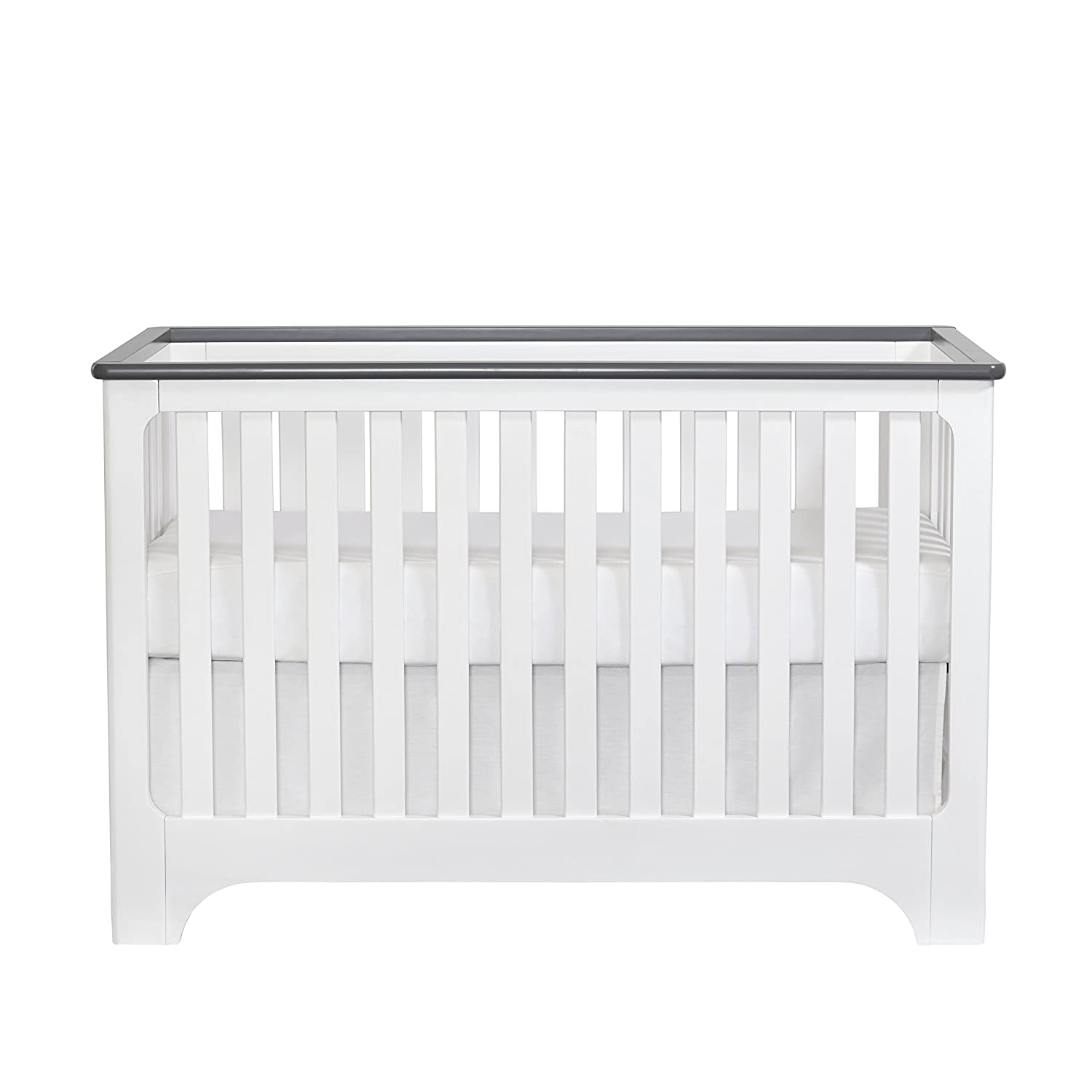 Suite Bebe Brooklyn Island 3 in 1 Convertible Crib White/Grey