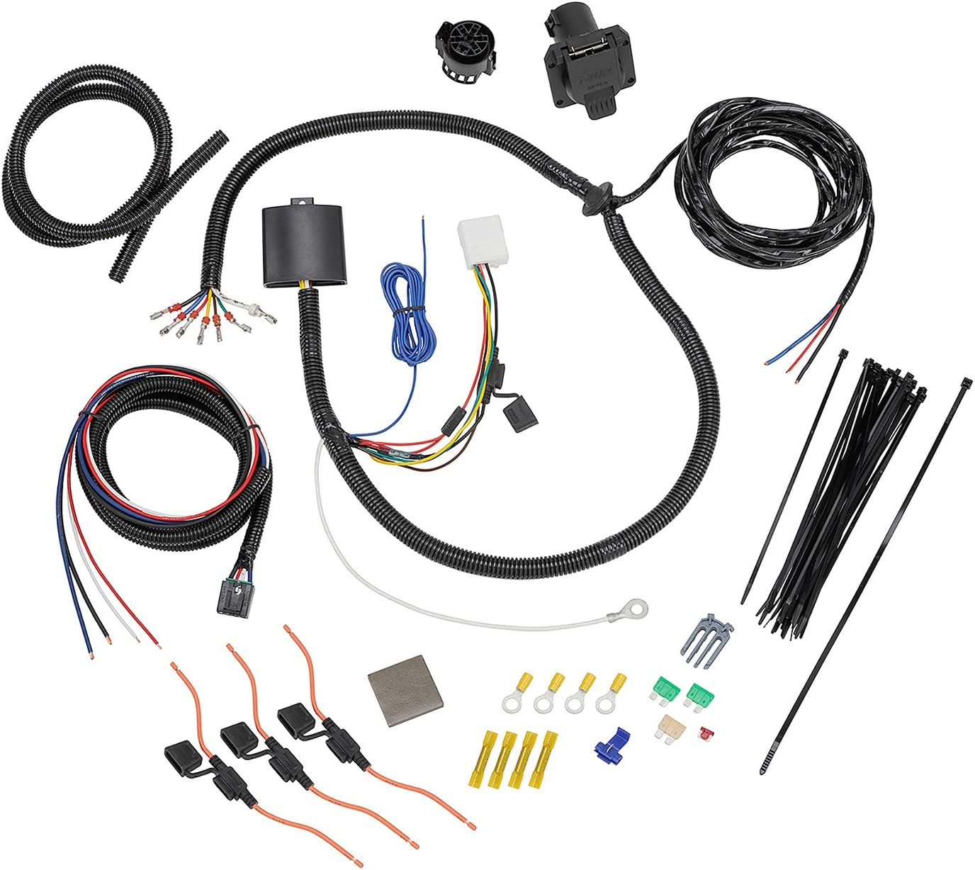 [ZSVE_7041]  Amazon.com: Tekonsha 22119 7-Way Tow Harness Wiring Package - Complete Kit:  Automotive | Vehicle Specific Wiring Harnesses |  | Amazon.com