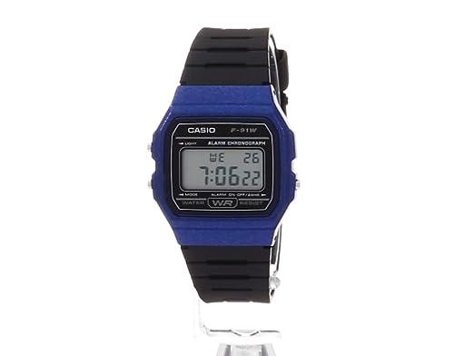 Amazon.com: Casio Mens Vintage Quartz Plastic and Resin Casual Watch, Color:Black (Model: F-91WM-2ACF): Watches