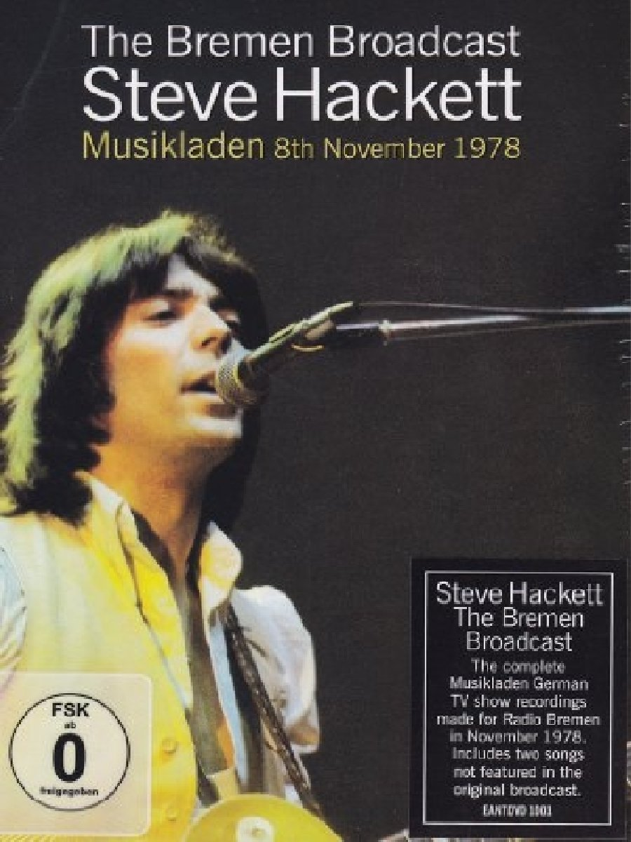 DVD : Steve Hackett - Bremen Broadcast: Musikladen 8th November 1978 (United Kingdom - Import, NTSC Format)