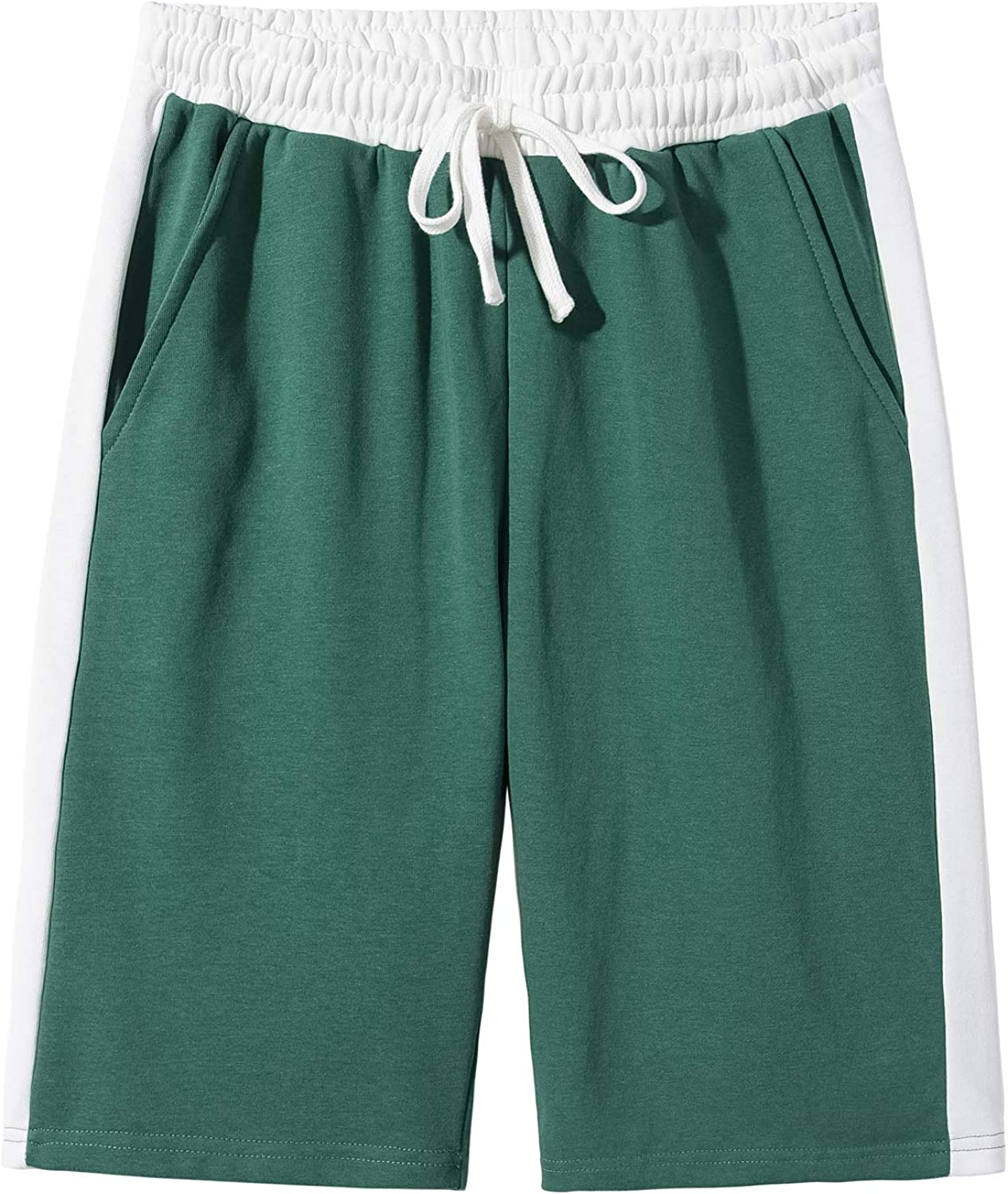 LOCALMODE Mens Workout Classic Fit Elastic Casual Cotton Jogger Active Shorts with Pockets
