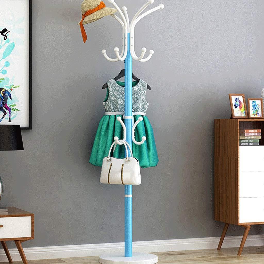 C Zxwzzz Coat Rack Hanger Floor Bedroom Coat Single Hanger Household Hanger Single Pole Single Rod Hanger Multi-Function Rack (color   A)