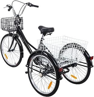 Riscko - Triciclo Adulto con Dos Cestas Bep-14 | Amarillo Fluor ...
