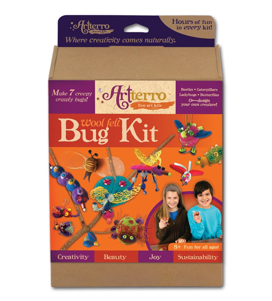 Artterro USA-made Wool Felt Bugs Kit