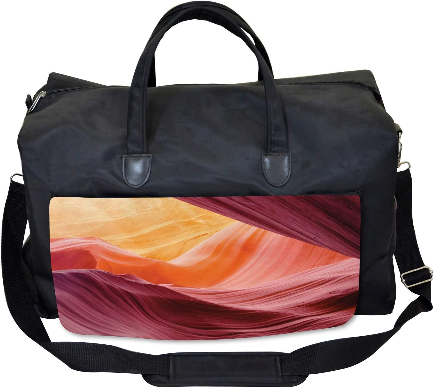 Ambesonne American Gym Bag Large Weekender Carry-on Grand Canyon Scenery