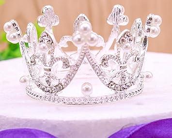 Amazon.com: Ronda Mini Rhinestone Corona Perla Princesa ...