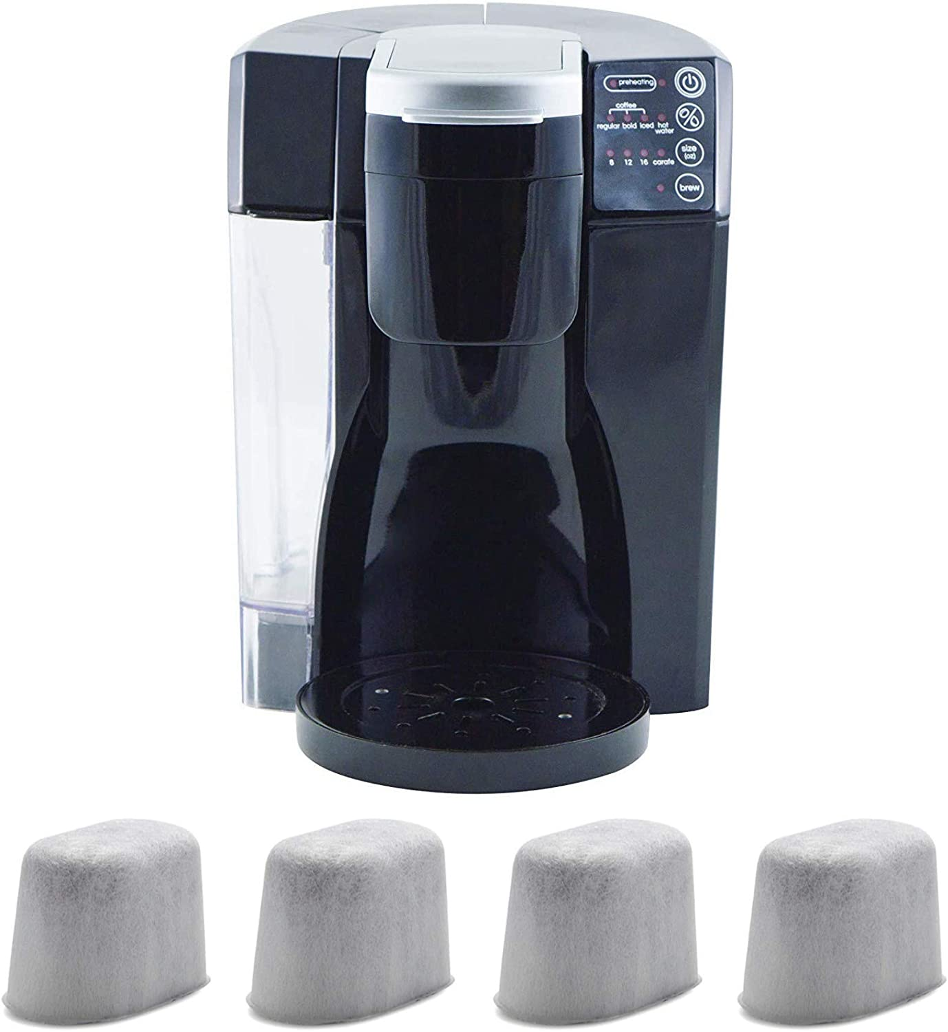 NuWave BruHub Coffee Maker with 40 oz. Carafe and 4 Pack Replacement Filters