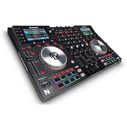Numark NV | DJ Controller for Serato with Intelligent Dual-Display Screens  & Touch-Capacitive Knob