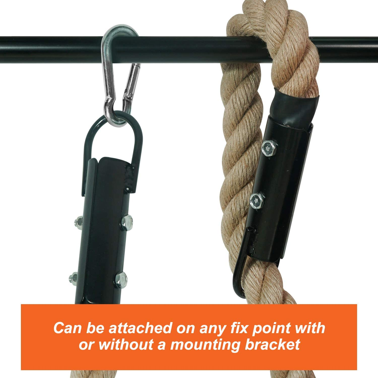 15 Yes4All Gym Climbing Rope for Fitness /& Strength Training Length Available 10 1.5-inch Diameter 20ft