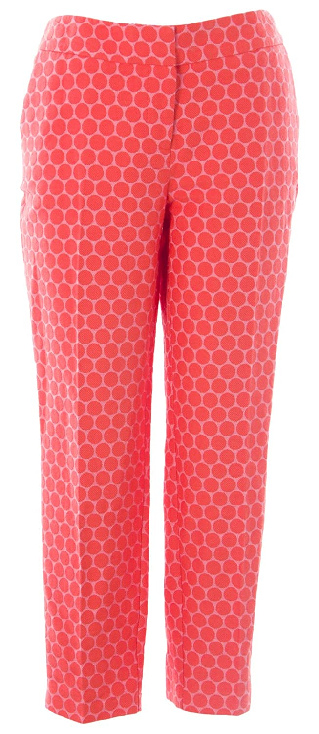 BODEN Women's Circles Bistro Crop Trousers US Sz 6R Orange/Pink