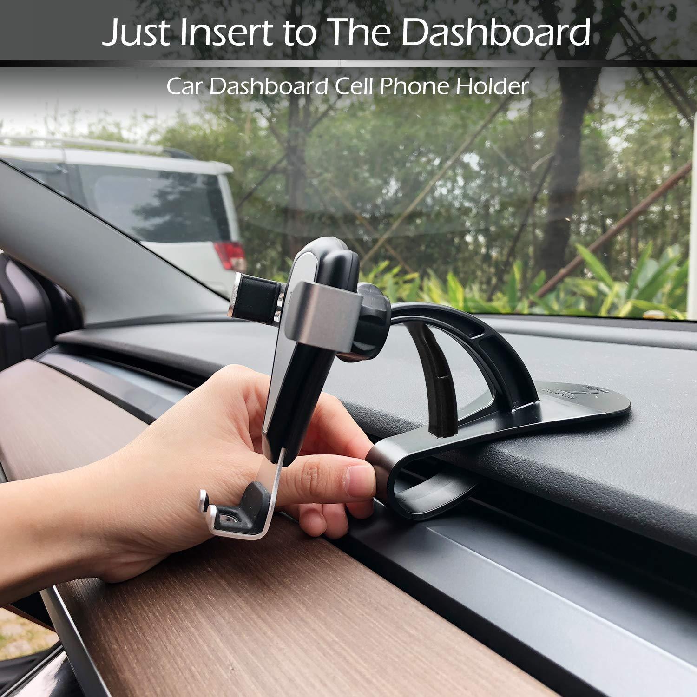 Car Phone Mount Dashboard for Tesla Model 3 Car Phone Holder Cradle Mount 360/° Rotation Cell Phone Holder Dashboard Compatible All Smart Phones up to 6.5