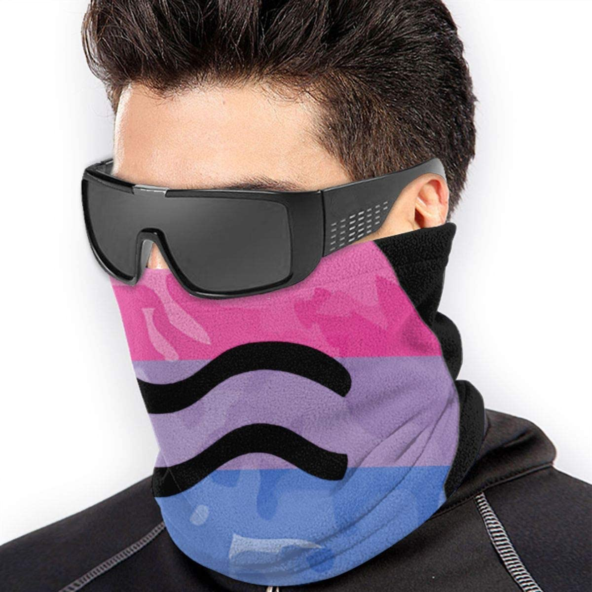 WlQshop Pride Aquarius Sign Tour de Cou Cagoules Bandana Cache Cou for Men Women Sun UV Wind Dust Protection Skiing Riding Running