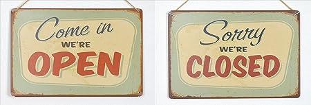 Cartel de chapa juego de 2 Open Closed 20 x 30 cm cartel de ...