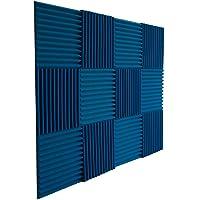"12 Pack- Ice Blue Acoustic Panels Studio Foam Wedges 1"" X 12"" X 12"""