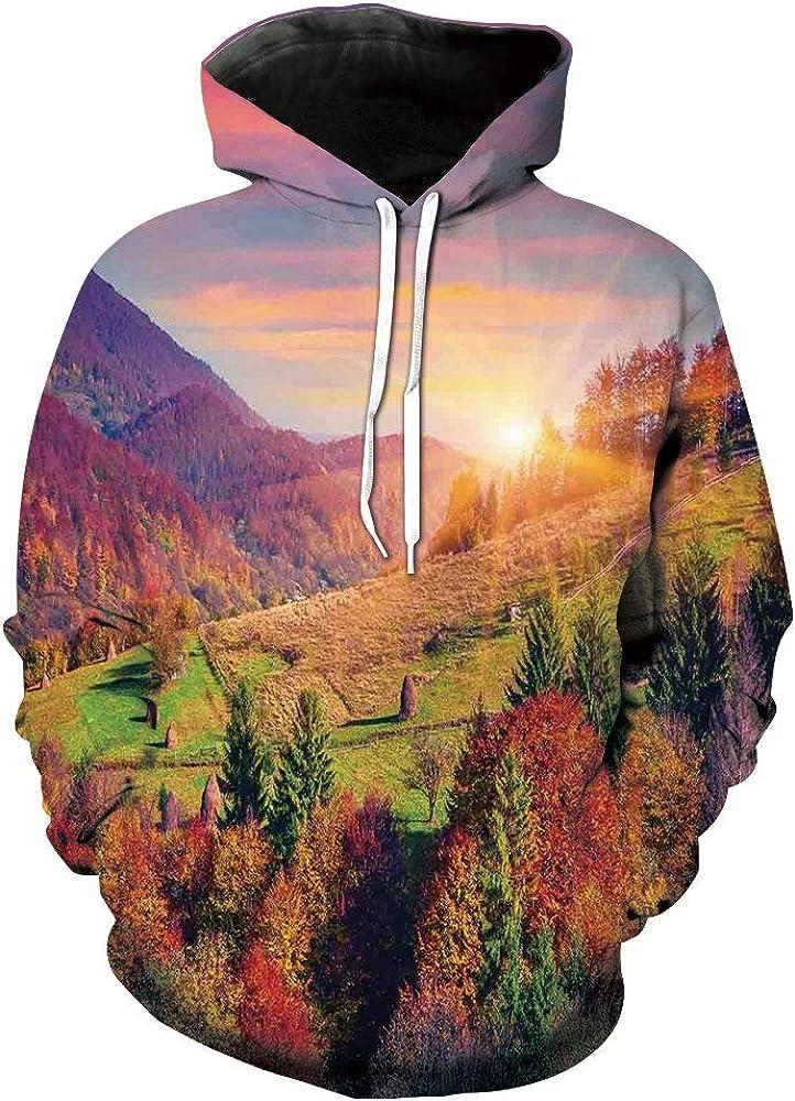 baihemiya Unisex Hoodie 3D Print Space Comets Sherpa Lined Fleece Sweatshirt Size XS