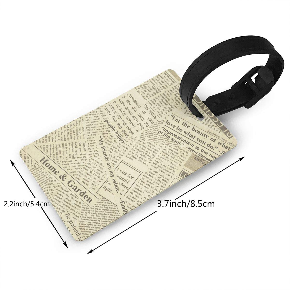 a06e84c361dd Amazon.com | Luggage Tags & Bag Tags, Home Garden Newspaper Pattern ...
