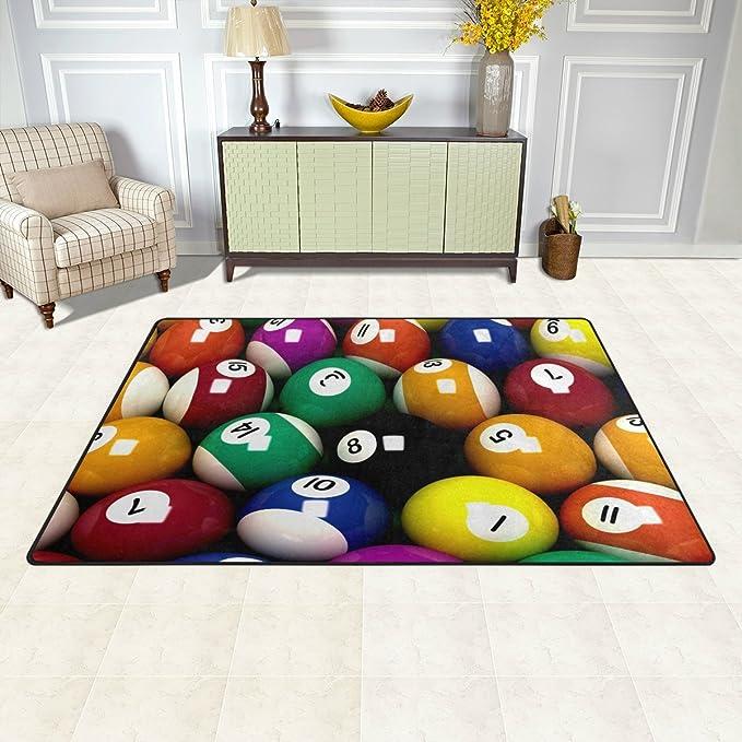 welllee deportes área alfombra alfombra de suelo, colorido Snooker ...