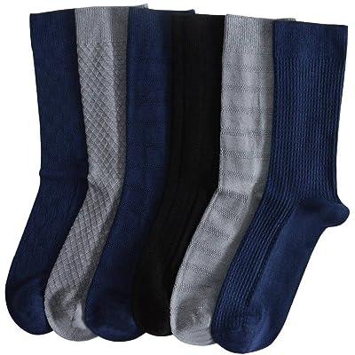 8 Pairs Bolero Bamboo Dress Socks Luxury Textured All Colors at Amazon Men's Clothing store