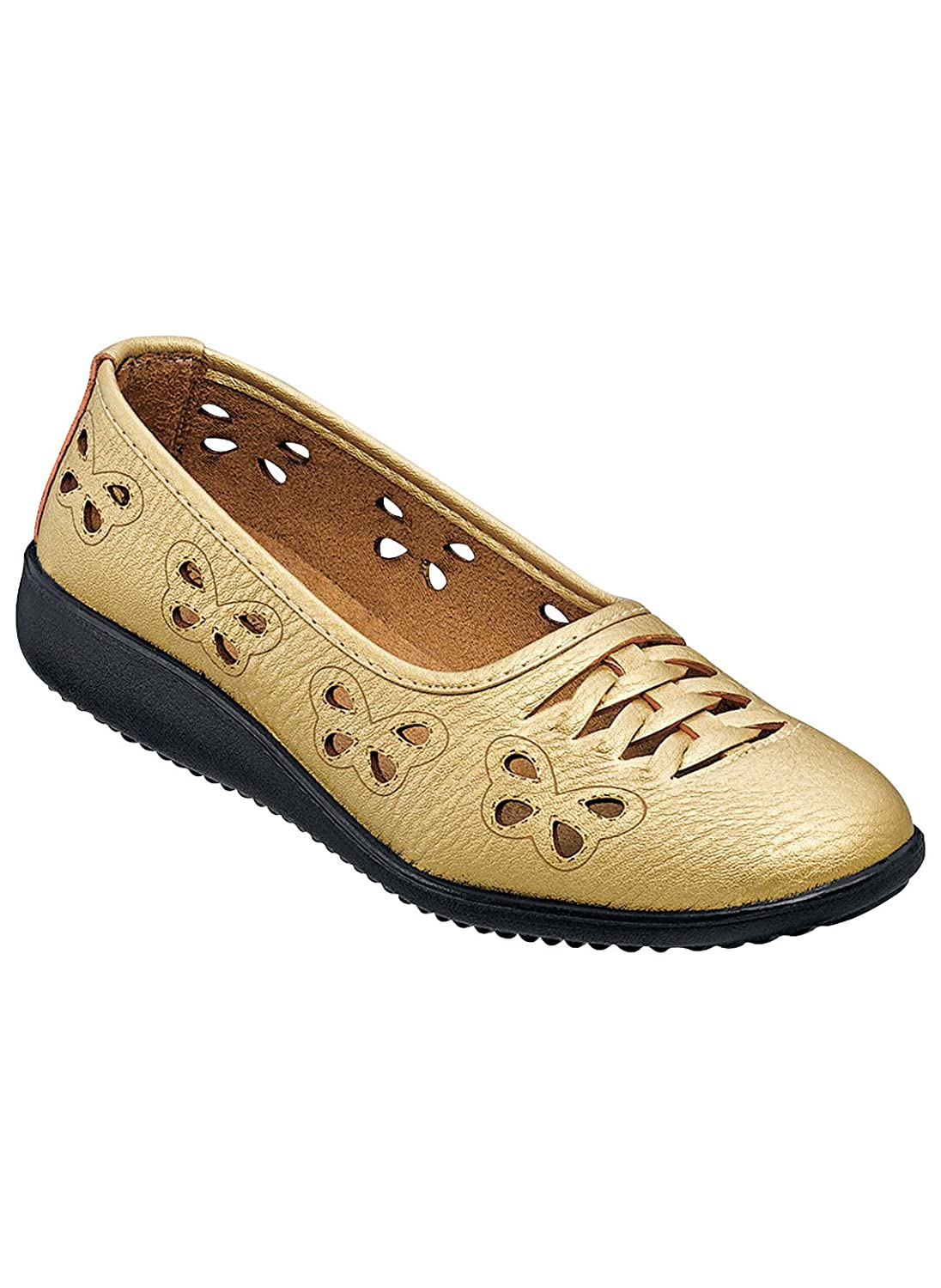 Wide Gold Size 9 Carol Wright Gifts Butterfly Flats