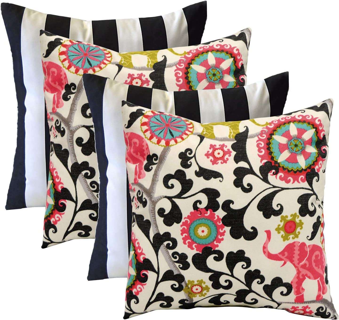 RSH Décor Designer Indoor / Outdoor - 4 Pack Coordinating Pillow Sets (20