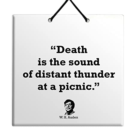 Death Is The Sound Of Distant Thunder At A Picnic W H Auden Best