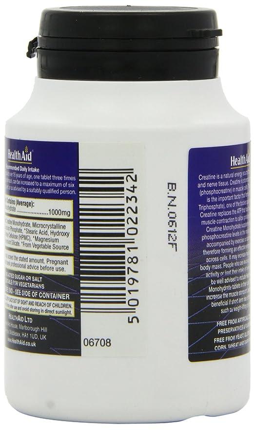 HealthAid Creatine (Monohydrate) 1000mg - 60 Tablets: Amazon in