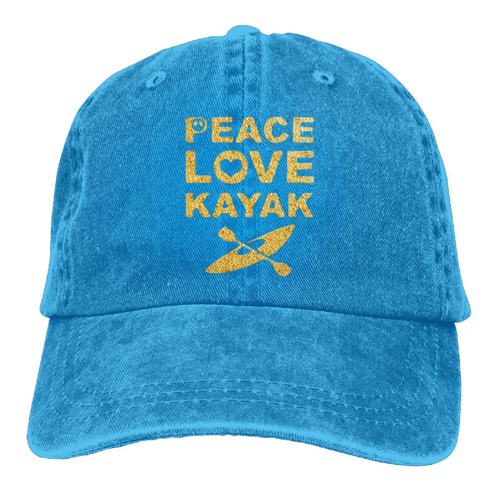 OPS Peace Love Kayak Adult Sport Adjustable Baseball Cap Cowboy Hat