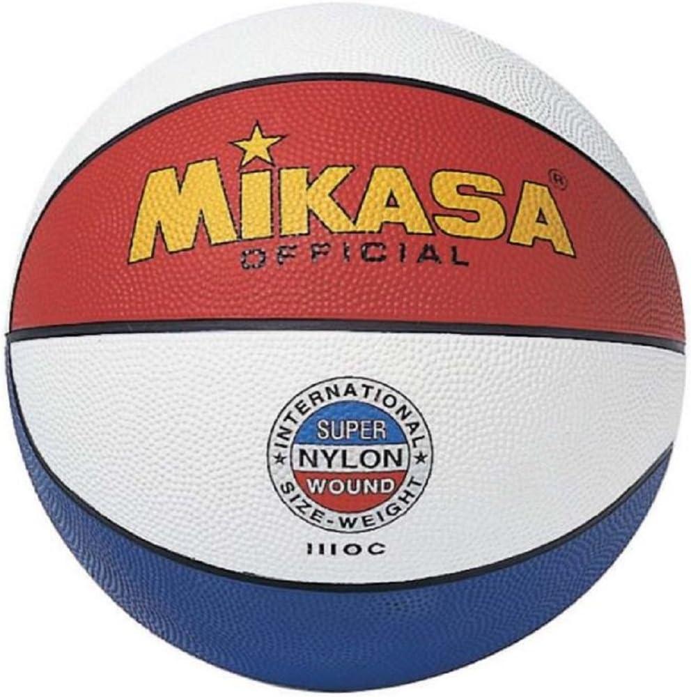 MIKASA 1110-C Balón de Baloncesto, Adultos Unisex, Tricolor, 7 ...