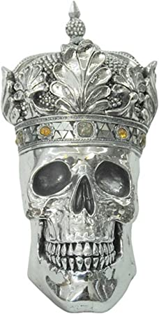 Middle England Queen Skull With Crown 36cm Electroplated Resin Sculpture Amazon Co Uk Kitchen Home