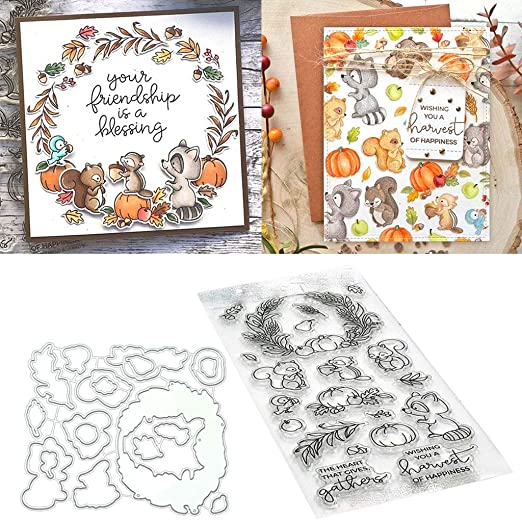 PineCones Metal Cutting Dies Stencil and Clear Stamp DIY Scrapbooking Paper Card