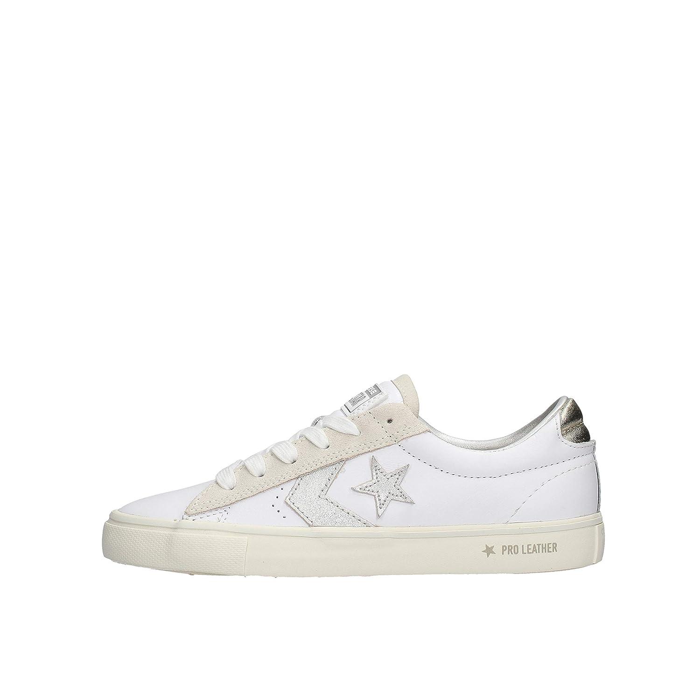 CONVERSE PRO LEATHER VULC OX Sneakers donna biancorosa