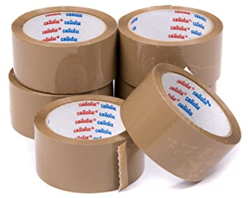 72 Rolls Of LOW NOISE BROWN Packaging Parcel Tape 50mm x 66m