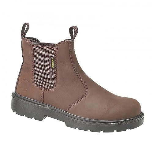 Amblers Steel - Calzado de protección de cuero para hombre, color marrón, talla 42.5