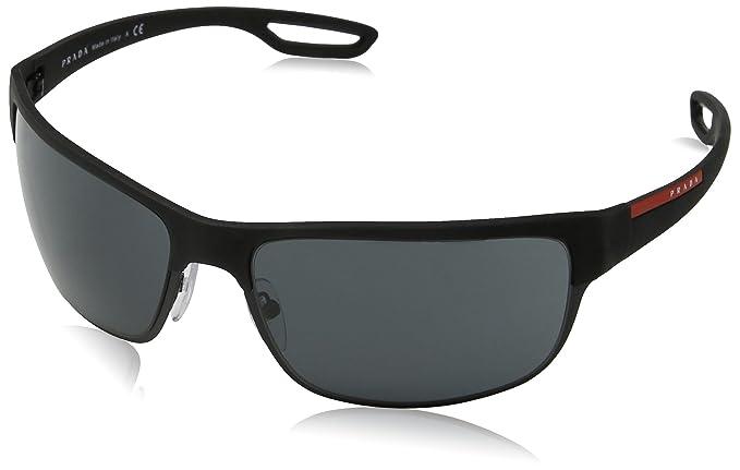3c46f9b3c7 Prada Sport Sunglasses 50QSSUN DG01A1 (64 mm) Black rubber matte black Grey
