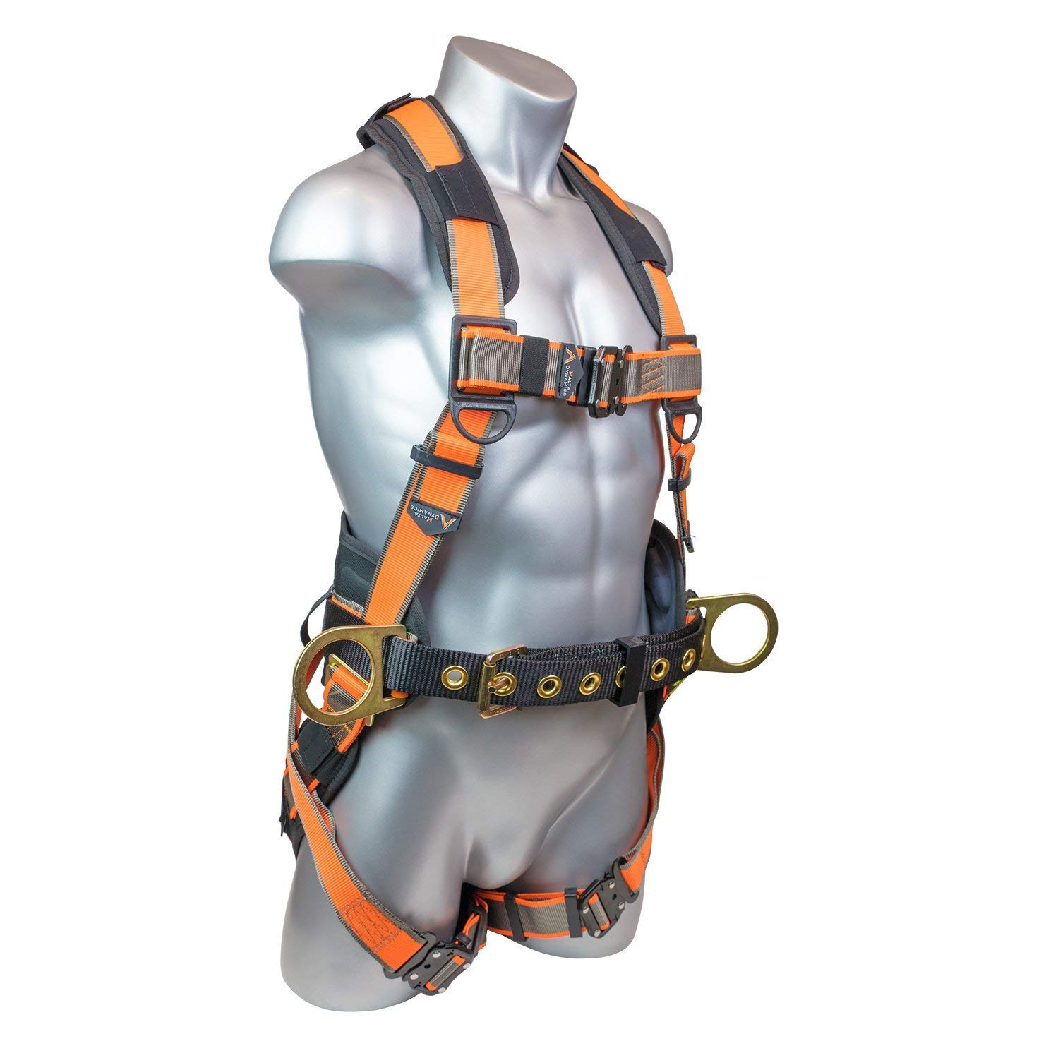 Warthog Comfort MAXX Construction Harness with Removable Belt, Side D-Rings and Additional Thick Padding (S-M-L), OSHA/ANSI Compliant by Malta Dynamics