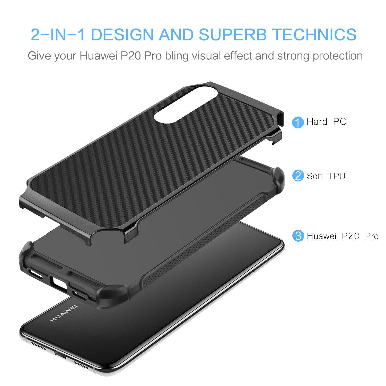 BENTOBEN Funda Huawei P20 Pro Silicona, Carcasa Ultra Delgado Huawei P20 Pro Case Cover PC + TPU Suave Combinadas Híbrida Anti-Arañazos Anti-Golpes ...