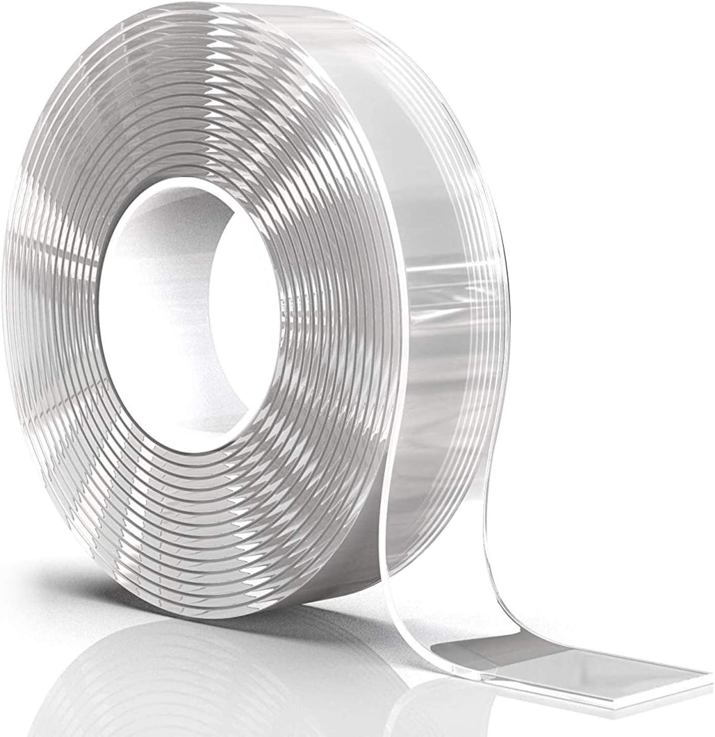 300 CM*40 MM Nano Klebeband,Doppelseitiges Klebeband Extra Stark Magisch Nano Doppelseitige Klebeb/änder Transparent Abl/ösbar Klebestreifen Doppelseitig Spurloses Waschbares Klebeband f/ür Teppich