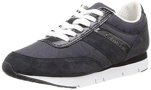 Calvin Klein JeansTea - Zapatillas Mujer, Azul (Bleu (Bbm)), 36: Amazon.es: Zapatos y complementos
