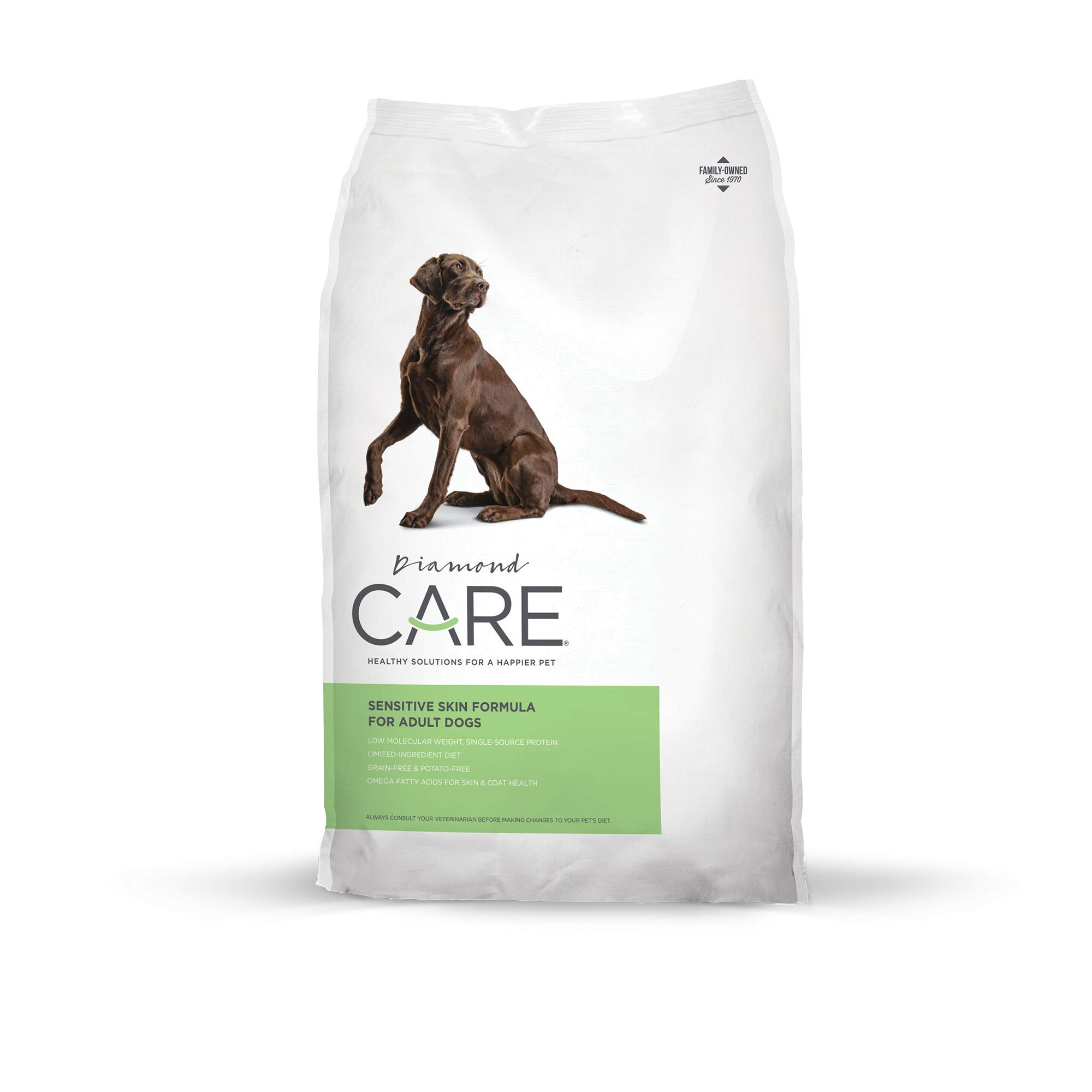 Diamond Care Sensitive Skin Recipe Specially Made As A Limited Ingredient Diet with Hypoallergenic Essentials To Support Dogs with Sensitive Skin, Itchy Skin Or Allergies 8lb by DIAMOND CARE