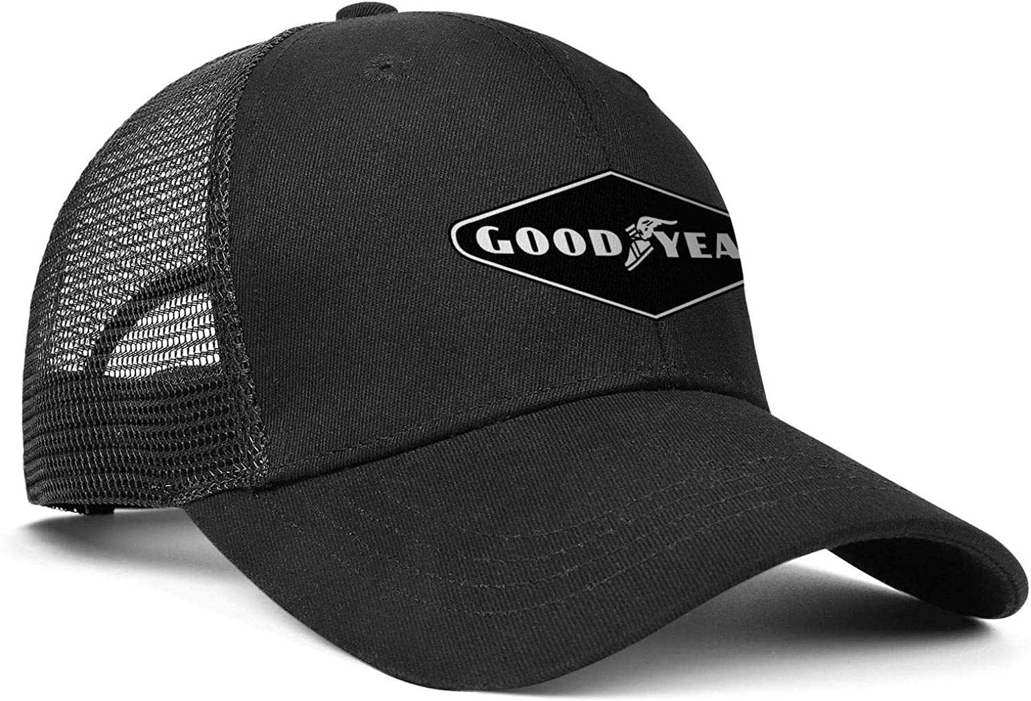 Goodyear-Tire-and-Rubber-Compa Mens Womens Mesh Back Ball Caps Youth Visor Hats