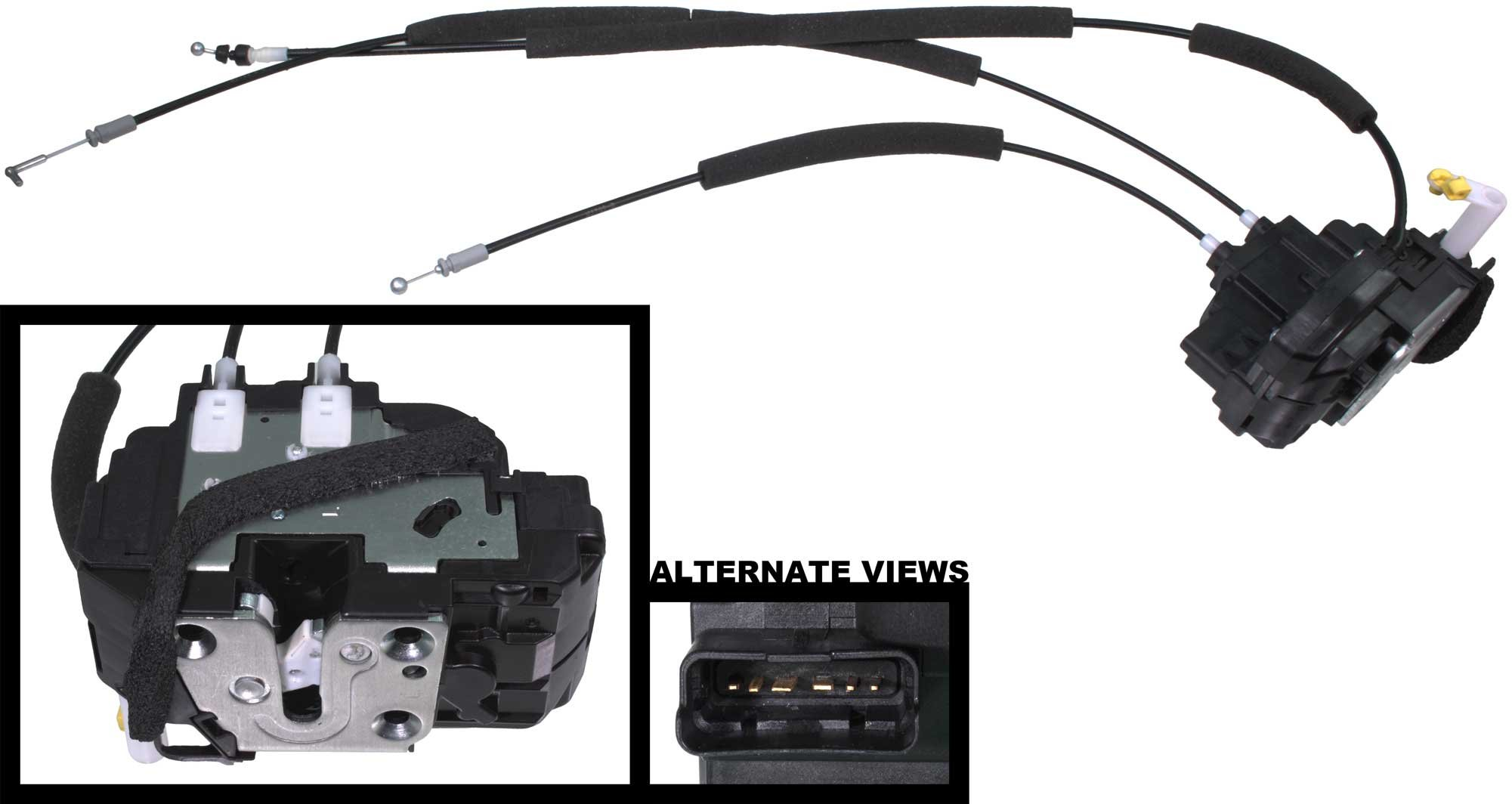APDTY 048343 Door Lock Actuator Motor w/ Cable Fits Front Left Driver-Side 2005-2015 Nissan Titan 2005-2007 Armada & Infiniti QX56 (Replaces 805019FG0A, 80501ZH01A, 80501ZQ00B, 80501ZQ01B, 80501ZT01A)