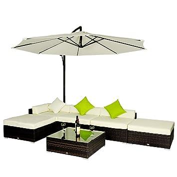 outsunny - set mobili da giardino in rattan set lounge salotto ... - Mobili Da Giardino In Rattan Vita Moderna