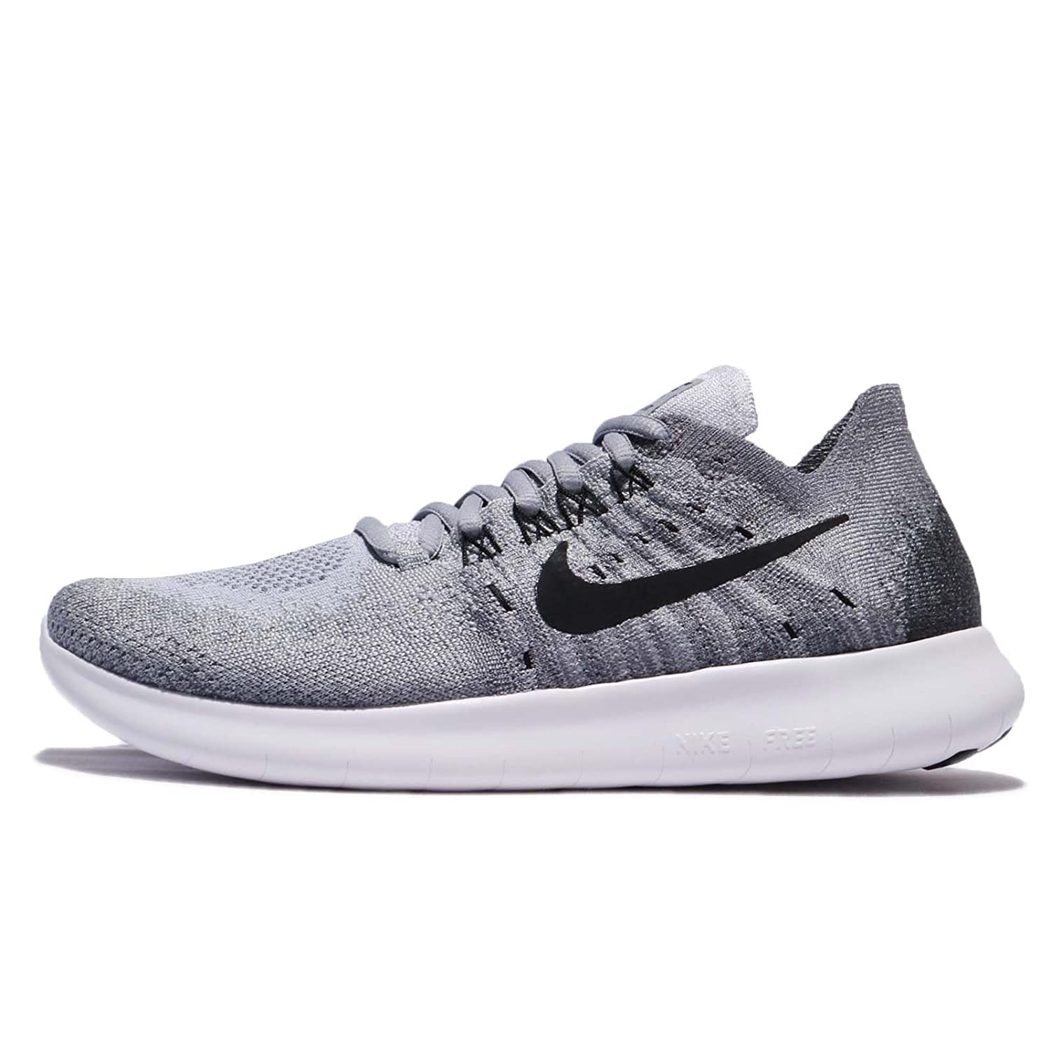 low priced 84163 db3ee Amazon.com   Nike Women s Free RN Flyknit 2017 Wolf Grey Black Anthracite Running  Shoe   Road Running