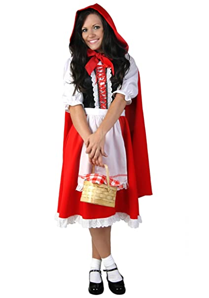 Deluxe Little Red Riding Hood Costume For Women Red Riding Hood Dress And Cape